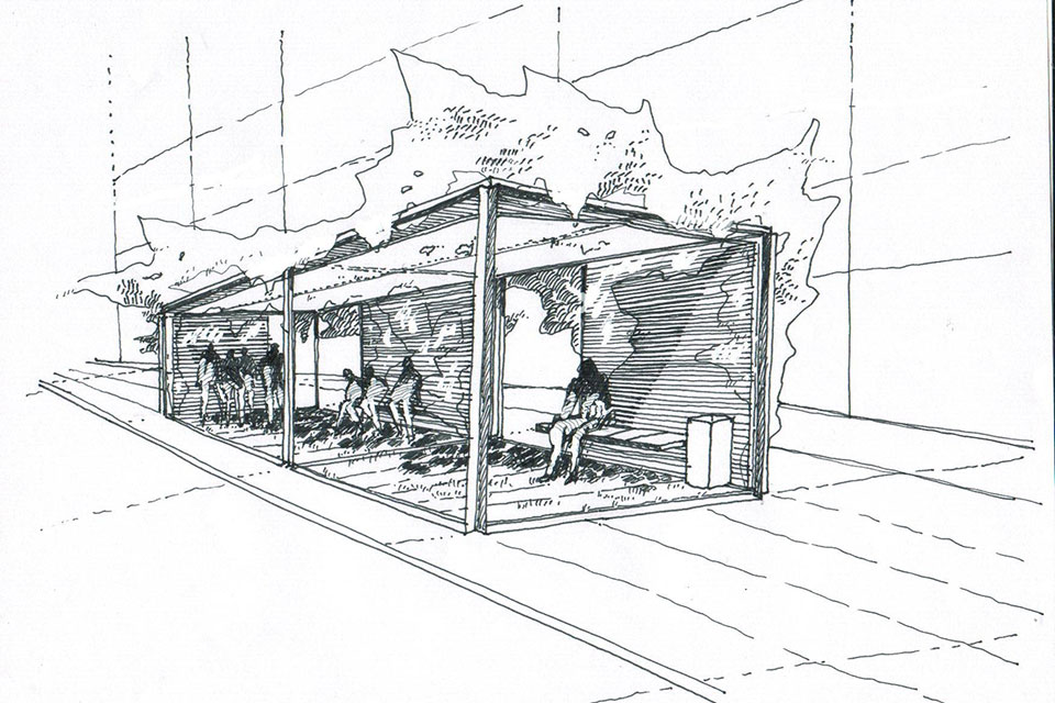 equipamiento urbano del puerto sardin arquitectos